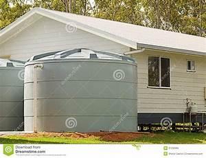 rainwater conservation tanks on new house royalty free With utilisation eau de pluie maison