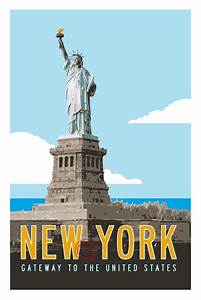 New York Poster : vintage new york travel poster statue of liberty art transit design ~ Orissabook.com Haus und Dekorationen