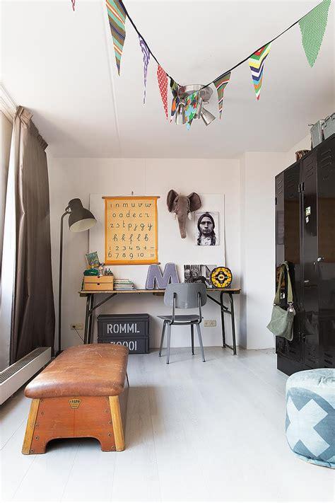 chambre indus aménager un coin bureau d 39 enfant vintage indus 39