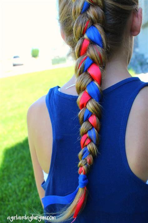 fourth  july hair  girl   glue gun