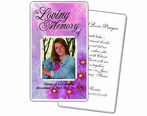 memorial prayer cards sparkle floral printable diy prayer With funeral memory cards free templates