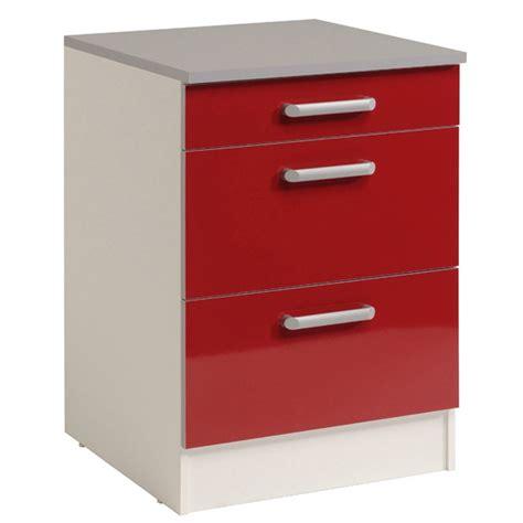 meuble bas 3 tiroirs 60 cm quot shiny quot