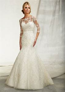 Beautiful wedding dresses with 3 4 sleeves cherry marry for Wedding dress 3 4 sleeve