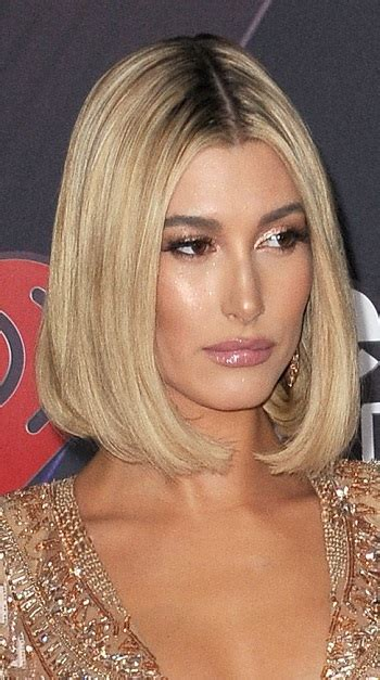 celebrity hairstyle news hailey baldwins super sleek bob