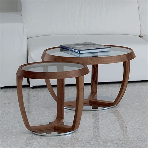 Perfect for resting a tray. Time Small: Coffee table by Tonon with glass round top, several sizes - Sediarreda Online sale
