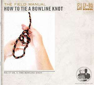 Spy School  How To Tie A Bowline Knot