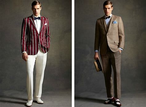 mode 20er jahre stil männer 20er jahre mode gatsby inspirierte