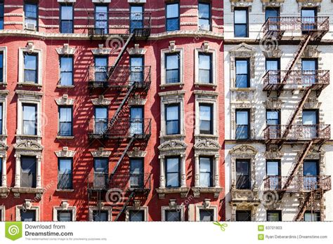 Apartment Buildings For Sale Buffalo New York by New York City Apartment Building Windows Stock Image