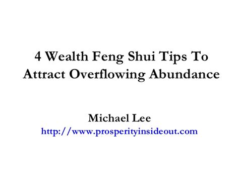 Wealth Feng Shui Tips To Attract Overflowing Abundance