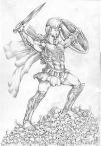Ares Greek God of War Drawings