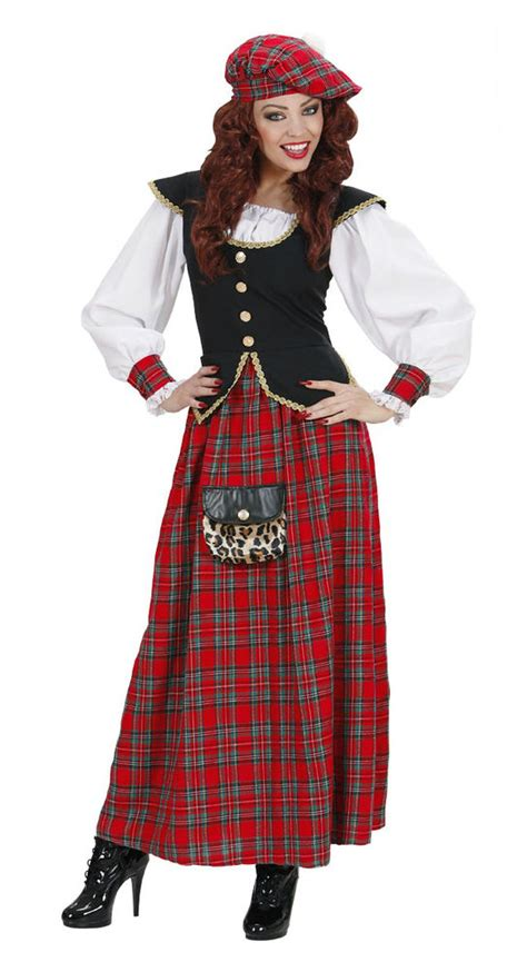 Ladies Scottish Costume Lady Lass Tartan Scotland Traditional Fancy Dress Outfit | eBay