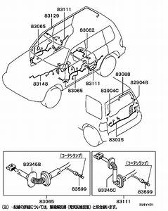 Wiring  U0026 Attaching Parts For 1999  Montero Io H76w