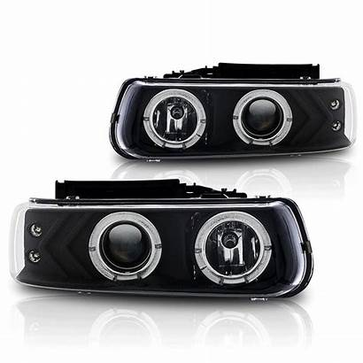 Tahoe Headlights Projector Chevy Halo Chevrolet Accessories