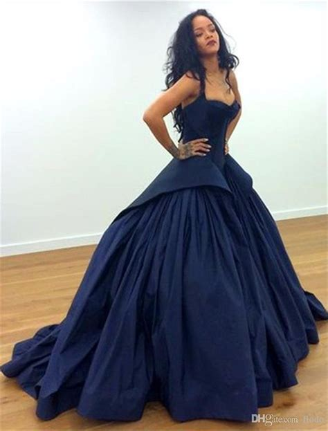 Sexy Navy Draped Taffeta Peplum Formal Evening Gowns 2017 ...
