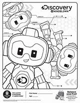 Discovery Coloring Mindblown Robots Meal Toys Sheets Mcdonald Mcdonalds Sheet Kid Activity January Activities sketch template