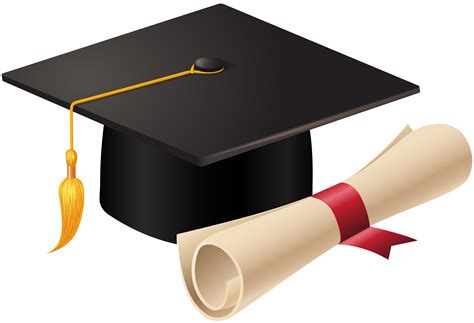 Graduation Cap And Diploma Png Clip Art