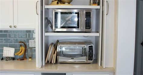 hidden microwave and toaster oven   Kitchen Ideas