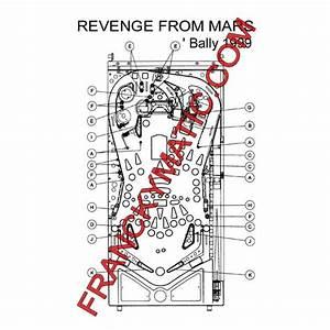Kit Elastique REVENGE from MARS 'Bally 1999 - ANIM'JEUX