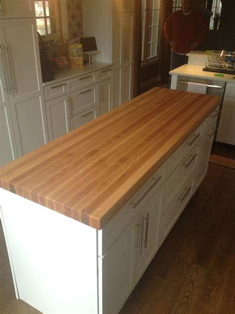Made Countertops by Custom Made Butcherblock Island Countertop By A E