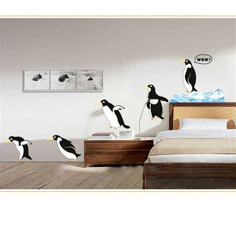 Penguin Removable Room Vinyl Decal Art Wall Home Decor