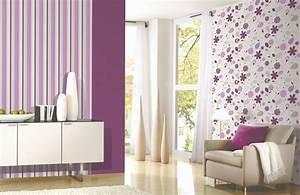vliestapete blumen 148eur m2 streifen uni tapete florales With balkon teppich mit lila blumen tapete