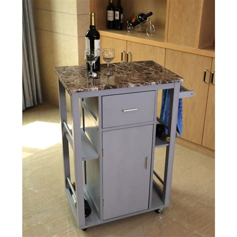 Kitchen Island With Wheels And Stools by Home Styles Country Lodge Pine Kitchen Island With Quartz