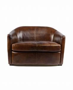 Canapé Cuir Vintage : windsor un canap club cuir marron vintage ~ Teatrodelosmanantiales.com Idées de Décoration