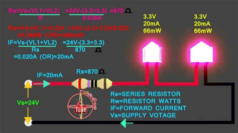 3 3v 3 3v led how to connect 24v series circuit how to calculate led series resistor watts