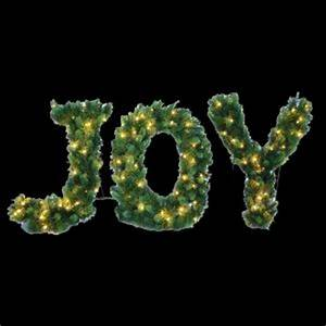 24 in pre lit led joy decorated letter shape artificial for Lighted letters joy