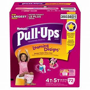 Huggies Pull-Ups Training Pants for Girls, Size 4T-5T (38 ...