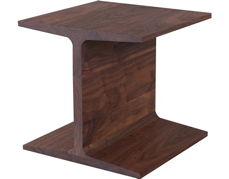 wood dining chairs with i beam side table 345 hivemodern com