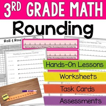 Third Grade Math  Rounding Unit By Ashleigh  Teachers Pay Teachers