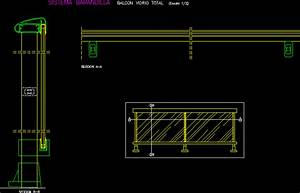 Detail Glass Railway DWG Detail for AutoCAD • Designs CAD
