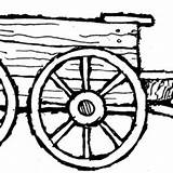 Wagon Farm Clipart Coloring Covered Pages Drawing Cliparts Clipartmag Clipground sketch template