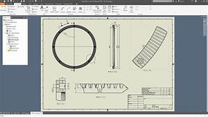INVENTOR 2018 - GEAR RING - DRAWING - CONCRETE MIXER - YouTube