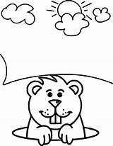 Groundhog Coloring Pages Sheets Wecoloringpage Printable Colouring Awesome Children Happy Template Fun sketch template