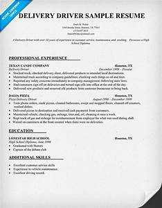 delivery driver job description With driver resume examples