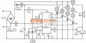 Hj94015 Christmas Tree Music Lights Control Circuit - Control Circuit - Circuit Diagram