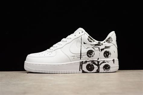 Nike Air 1 Low Supreme by Supreme X Cdg Nike Air 1 Af1 Low White Casual Shoes