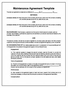 maintenance agreement template microsoft word templates With hvac preventive maintenance letter to customer