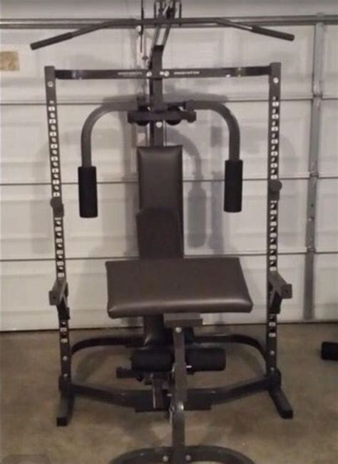 Parabody Bodysmith Squat Rack Hi And Low Pulley Cable