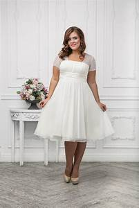 Plus size bridesmaid dresses trends 2016 for Plus size short wedding dresses with sleeves