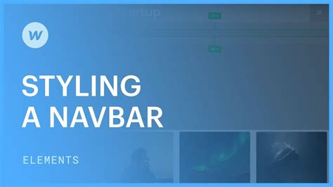 styling  responsive navigation bar web design tutorial