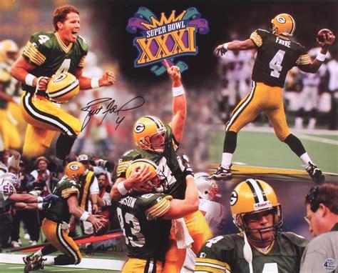 Brett Favre Signed Packers Super Bowl Xxxi 16x20 Photo
