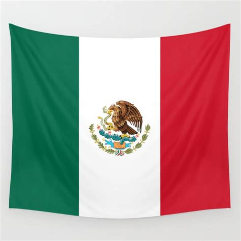 Mexican flag of Mexico Wall Tapestry by brucestanfield ...