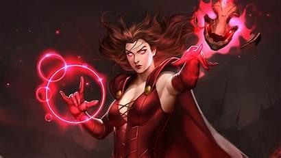 Witch Scarlet 4k Wallpapers Marvel Artwork Comics