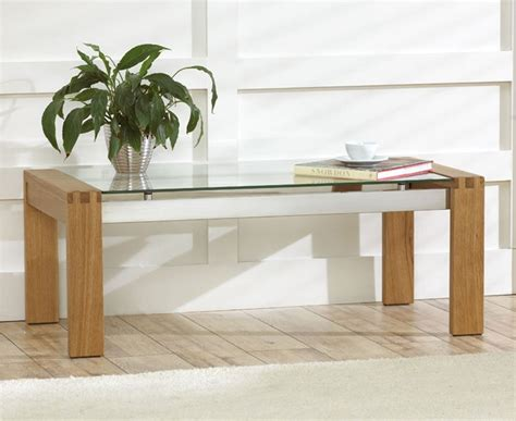 oak coffee table with glass top roma solid oak coffee table with glass top