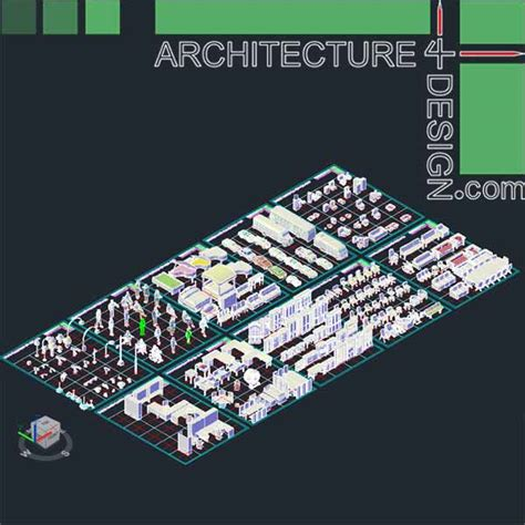 autocad  furniture models dwg file architecture