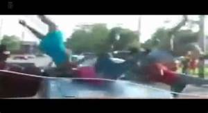See It  East St  Louis Driver Slams Into Women During Fight