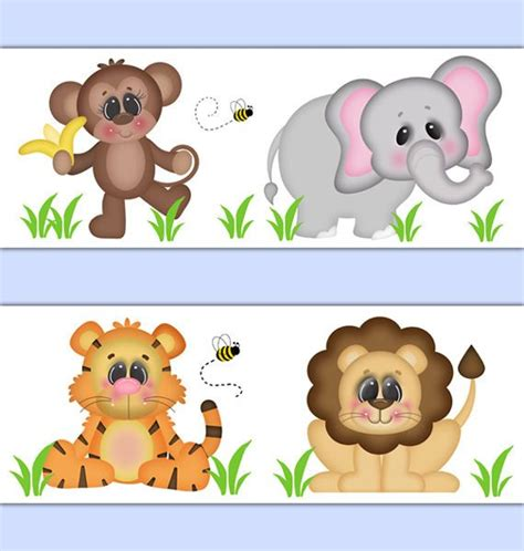 Safari Animal Wallpaper Borders - safari animal wallpaper border wall decal baby boy